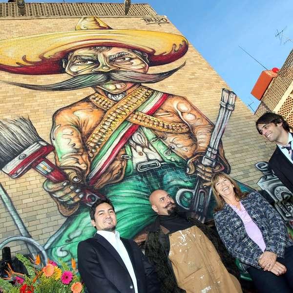 Contempla el nuevo mural en honor a emiliano zapata en el df for Emiliano zapata mural