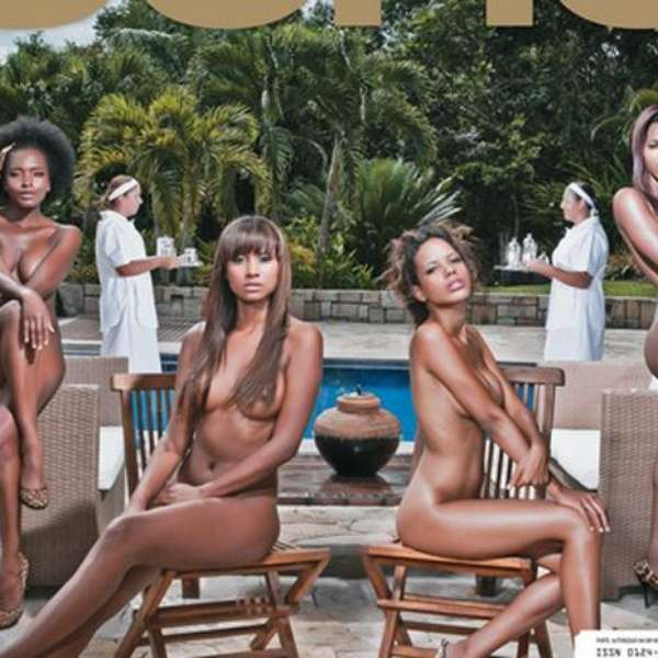 Las chicas negras se desnudan