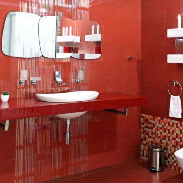 Baño De Color Rojo Intenso Mercadona:Considera el rojo para tu baño