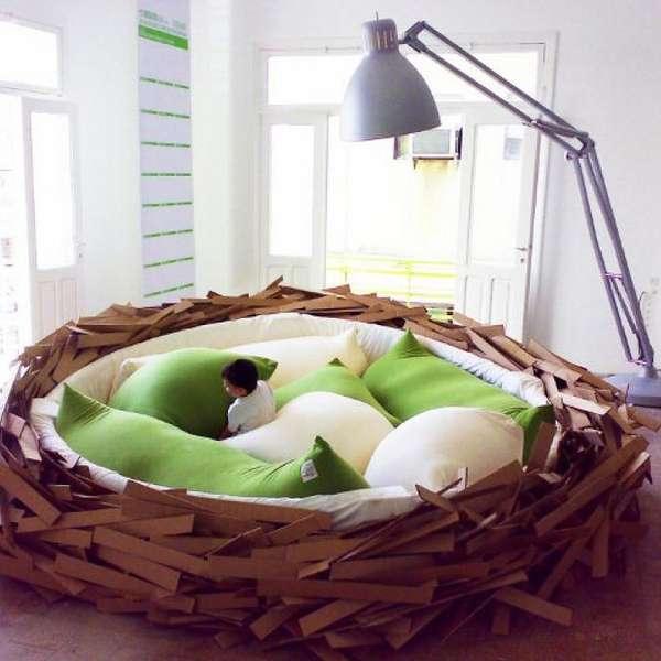 Camas originales duerme en un nido de p jaro for Camas nido originales