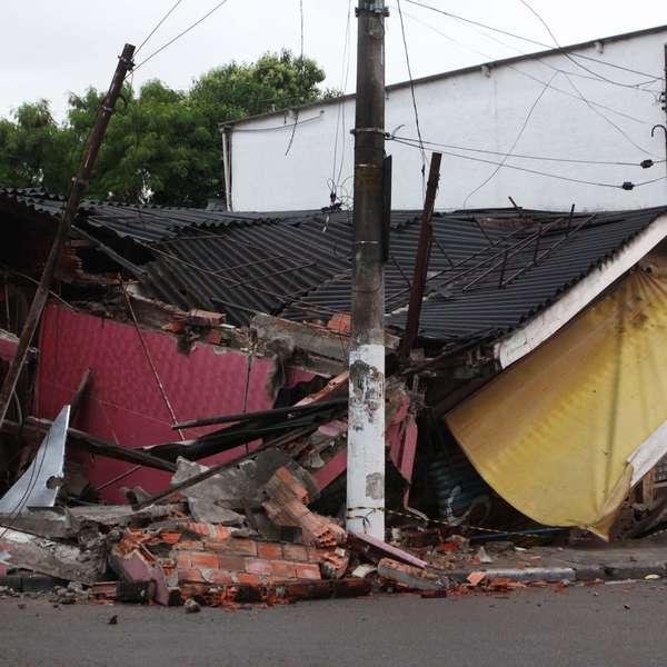 Armario Para Cozinha Pequena ~ Mercado e loja desabam na zona sul de S u00e3o Paulo