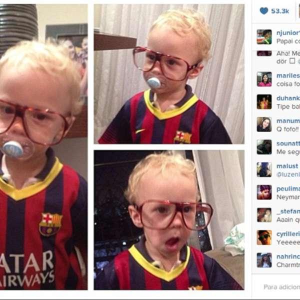 Neymar Daniel Alves Confira Os Boleiros Que Entraram: Neymar Posta Foto Do Filho Com A Camisa Do Barcelona E Diz