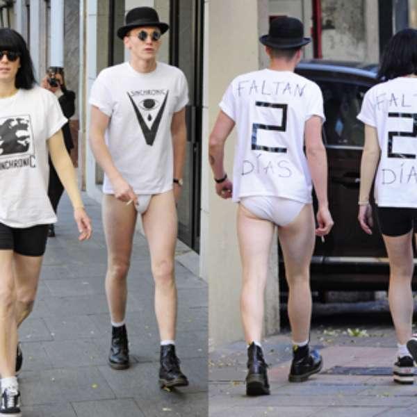 Bimba bos y su novio en ropa interior por la calle - Ropa interior novio ...