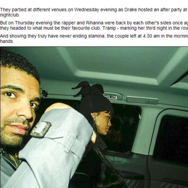 Paparazzi capta a rihanna mientras tomaba la mano de drake - Cena romantica en londres ...