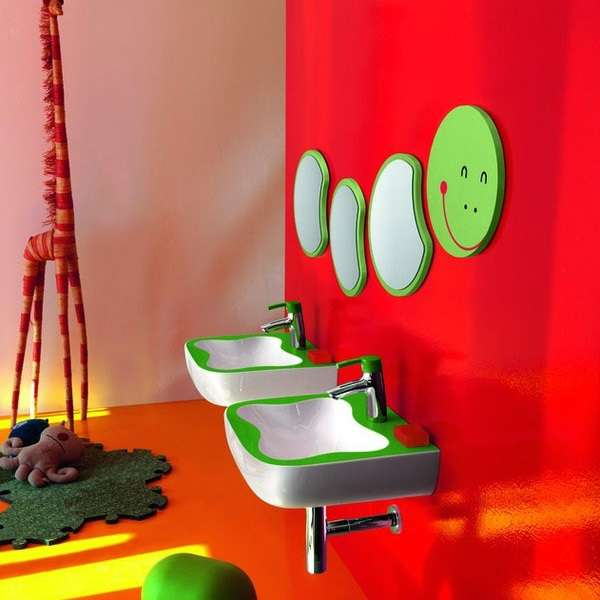 Ir Al Baño Color Amarillo:Ideas de decoración para baños infantiles