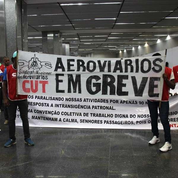 Paralisação em aeroportos prejudica embarques pelo Brasil - Terra Brasil