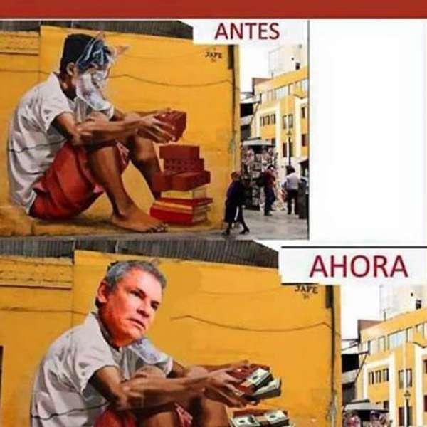 Baño Pintado De Amarillo:Castañeda: memes por murales pintados de amarillo en Lima