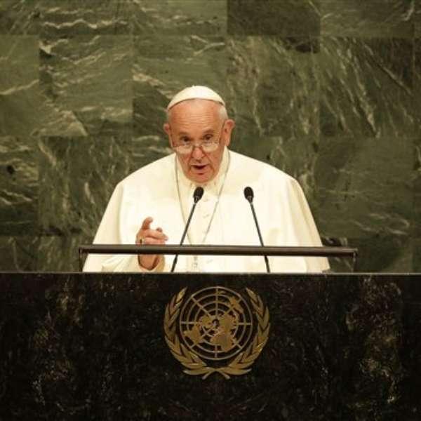 Image result for papa francisco en la ONU