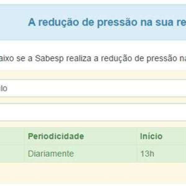 Saiba quando a Sabesp reduzirá a pressão da água na sua casa - Terra Brasil