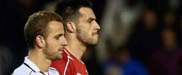 Soldado y Negredo. Foto: Getty Images