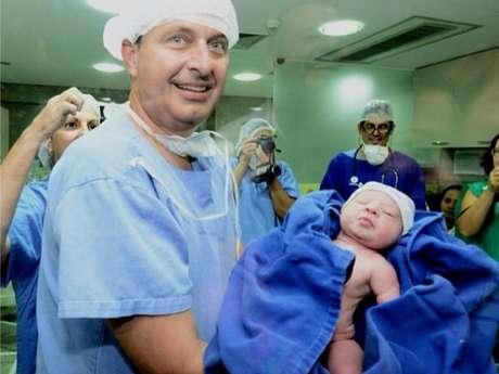 Miguel nasceu com 3,455 quilos e 51,5 centímetros Foto: Aluisio Moreira/SEI   / Divulgação