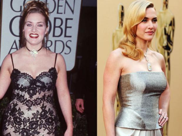 Kate Winslet ha sido siempre una mujer con curvas como ella misma se define, aunque confesó que se había sentido mal con su propia imagen debido a las presiones de Hollywood. Ahora está más delgada, aunque sin llegar a extremos. Foto: Getty images