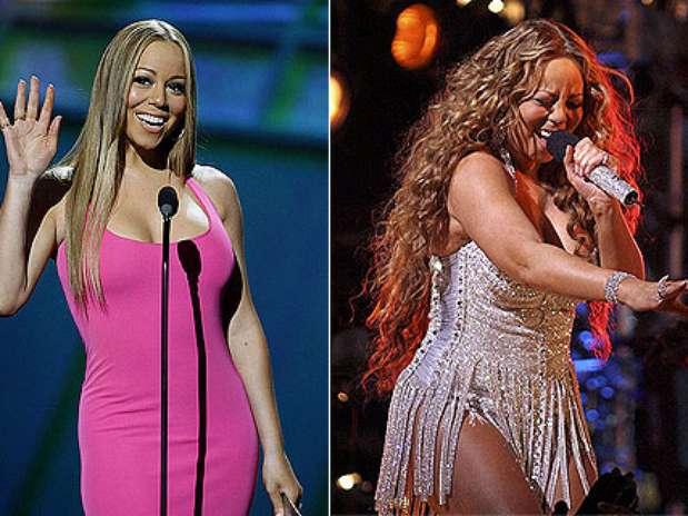 La cantante Mariah Carey sube y baja de peso constantemente y se le a visto delgado y con algo de sobrepeso. Foto: Getty Images