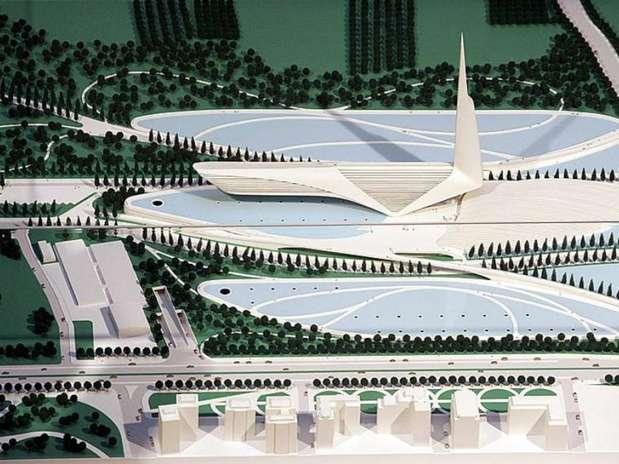 Imagen de la maqueta del proyecto de Calatrava en Castellón Foto:  / Agencias