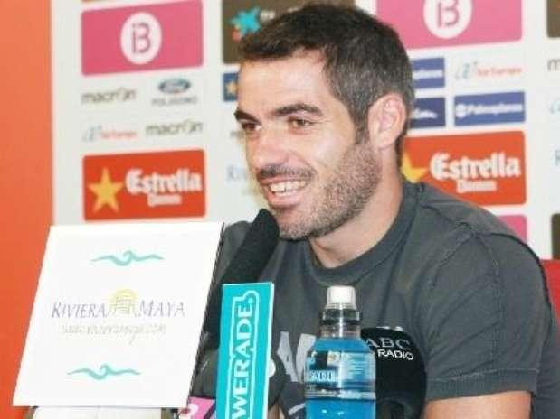 El jugador del Mallorca, Antonio López, en rueda de prensa Foto: RCD MALLORCA