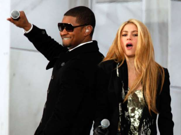 Usher y Shakira. Foto:  / Getty Images