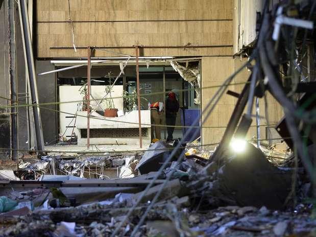 Los daños en el edificio son severos y recuerdan a lo visto en un terremoto. Foto: Terra