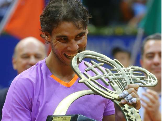 Rafael Nadal en el Abierto de Brasil Foto: AP