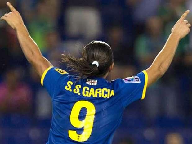 Sergio García ha sufrido un tirón muscular ante la UE Llagostera Foto: EFE en español