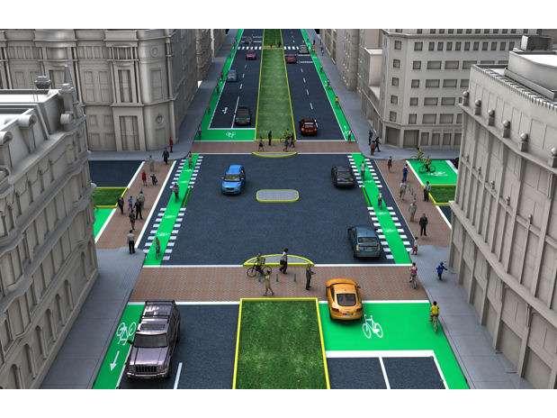 Actualmente existen unos 126 kilómetros de ciclovías en Lima.  Un nuevo proyecto busca añadir más de 200 kilómetros adicionales que conformarán una red que alimentará las rutas de El Metropolitano. Foto: Municipalidad de Lima / Terra Perú