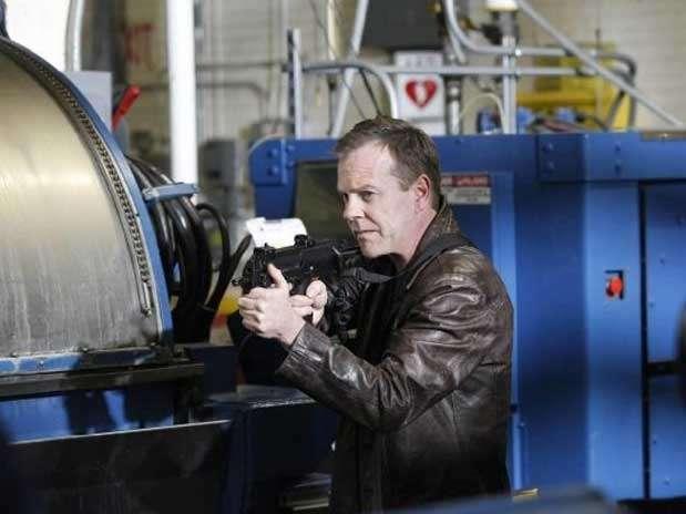 O ator Kiefer Sutherland na pele de Jack Bauer, herói da série da 20th Century Fox Foto: Divulgação