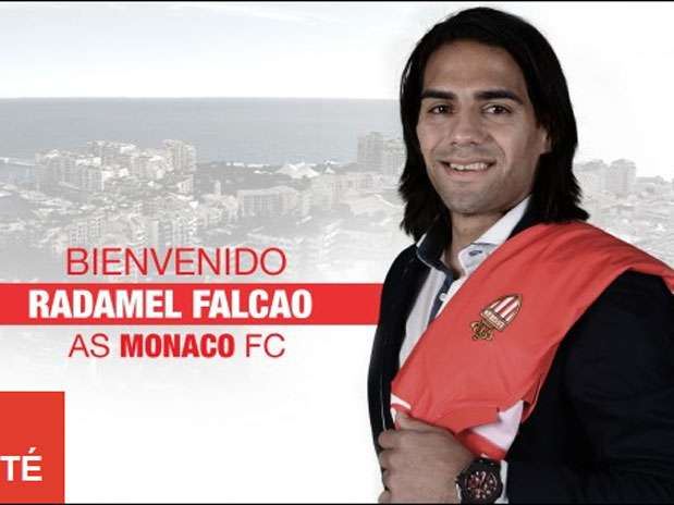 Así da la bienvenida el Mónaco a Falcao en su website oficial Foto: Cortesía website del Mónaco