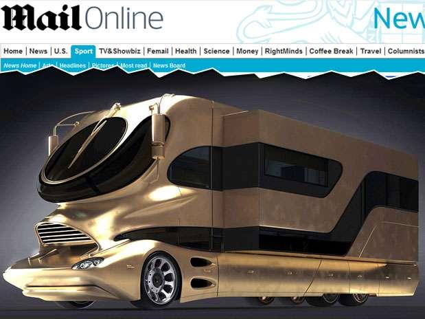 Veículo coberto a ouro é utilizado pelos magnatas do petróleo em Dubai Foto: Divulgação