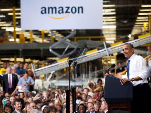 """""""No estamos faltos de ideas, estamos faltos de acción y, durante gran parte de los últimos dos años, Washington ha desviado su atención cuando se trata de la clase media"""", dijo Barack Obama ante la multitud. Foto: Getty Images"""