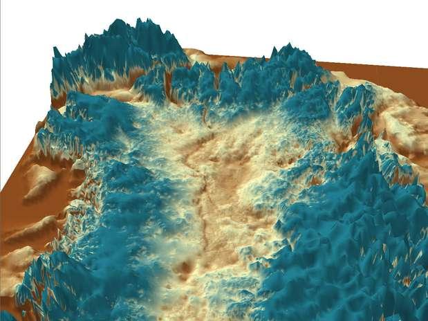 Pesquisadores descobriram um cânion na Groenlândia após analisarem dados de radar Foto: Divulgação