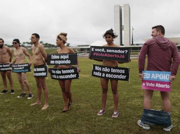 Naked Protestors