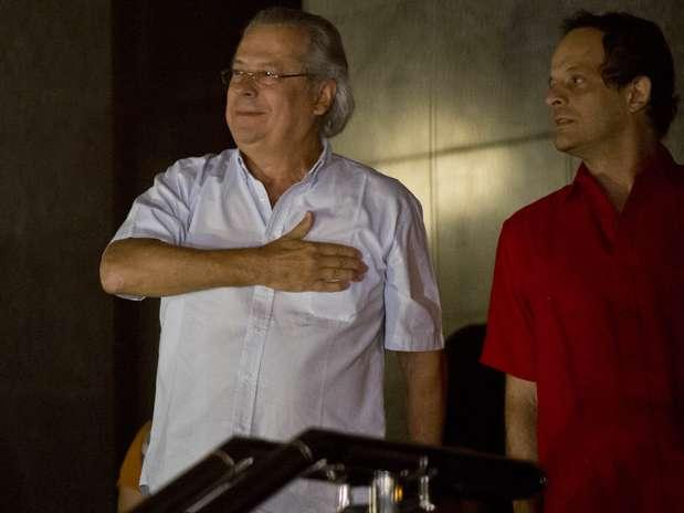 José Dirceu (ex-ministro-chefe da Casa Civil, considerado chefe da quadrilha do mensalão) foi condenado a 10 anos e 10 meses de prisão em regime inicial fechado Foto: Bruno Santos / Terra