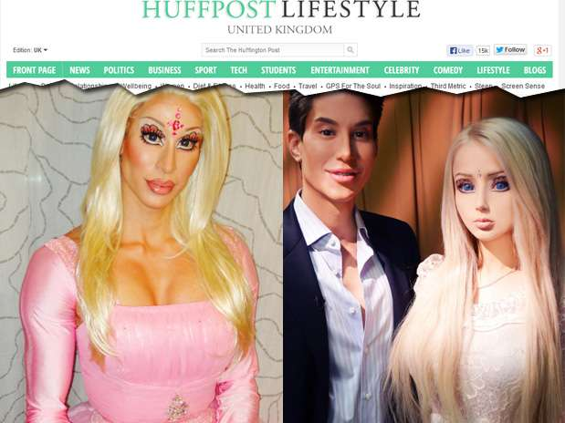 Ken se veste de Barbie para provar que Valeria Lukyanova é 'uma drag queen maquiada' Foto: Reprodução
