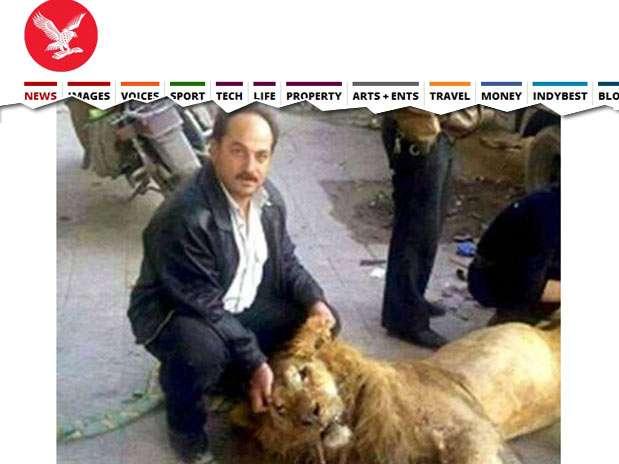 Homem segura a cabeça do animal enquanto outro parte o traseiro Foto: Reprodução