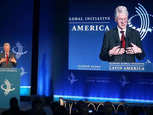Bill Clinton fala na abertura do evento sobre os problemas e o futuro da América Latina Foto: EFE