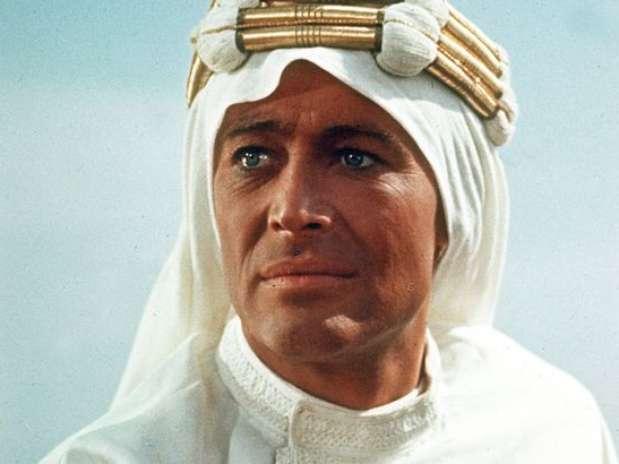 O ator em cena de 'Lawrence da Arábia' Foto: Divulgação