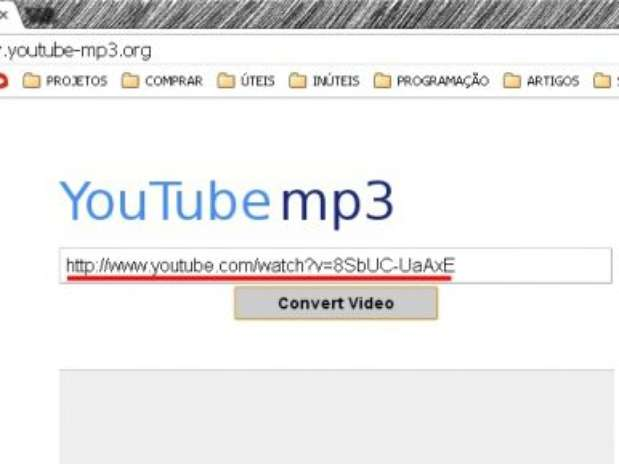 3º - Depois, abra o site youtube-mp3.org, cole a URL no campo ...