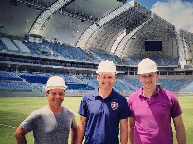 Klinsmann registrou passagem pela Arena das Dunas neste sábado Foto: Divulgação
