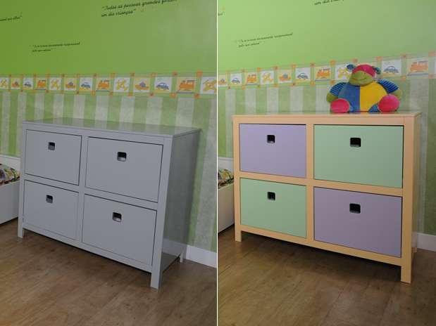 Antes e depois mostra reforma da cômoda feita pela blogueira Thalita Carvalho Foto: Divulgação