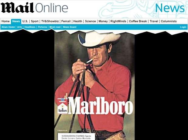 Eric Lawson atuou em campanhas da Marlboro na década de 1970 Foto: Reprodução