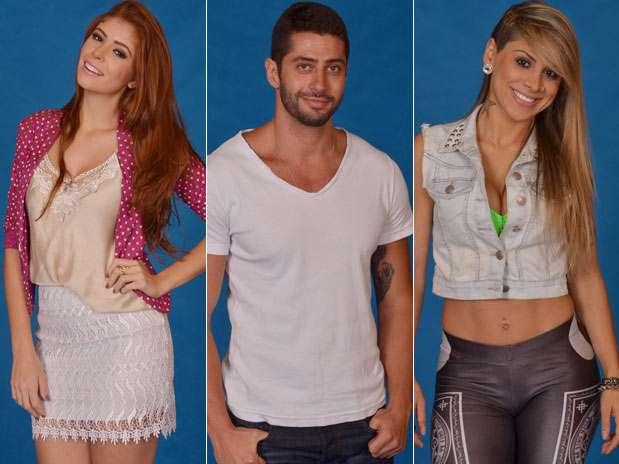 Amanda, Marcelo e Vanessa disputam a permanência no reality show Foto: TV Globo / Divulgação