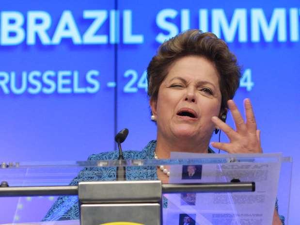 Dilma defendeu obras para a Copa do Mundo no Brasil Foto: AP