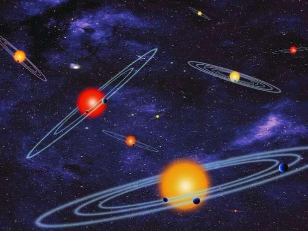 Cinco planetas estão na zona habitável de suas estrelas e têm um tamanho semelhante ao da Terra Foto: Divulgação