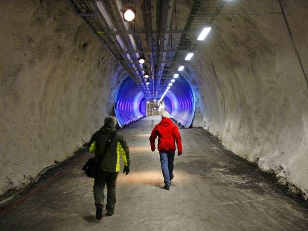 """Mais de 20 mil novas espécies foram levadas para o Doomsday Vault, o bunker do """"juízo final"""" Foto: AFP"""
