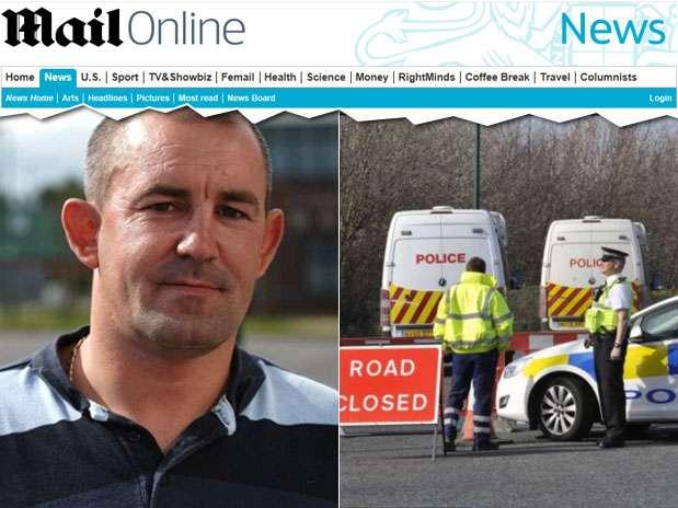 Kelvin Hewitt foi atacado próximo a um acampamento cigano, próximo à cidade de Middlesbrough. A polícia interrompeu o trânsito na região para tentar achar o pênisda vítima Foto: Reprodução