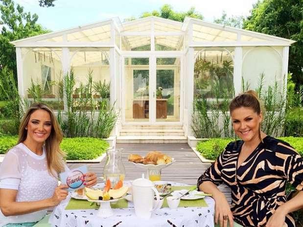Ticiane Pinheiro conversou com nova mamãe Ana Hickmann Foto: Instagram / Reprodução