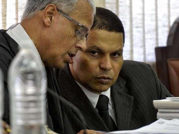 Mizael aguarda o início de seu julgamento pela morte da ex-namorada Mércia Foto: Fernando Borges / Terra