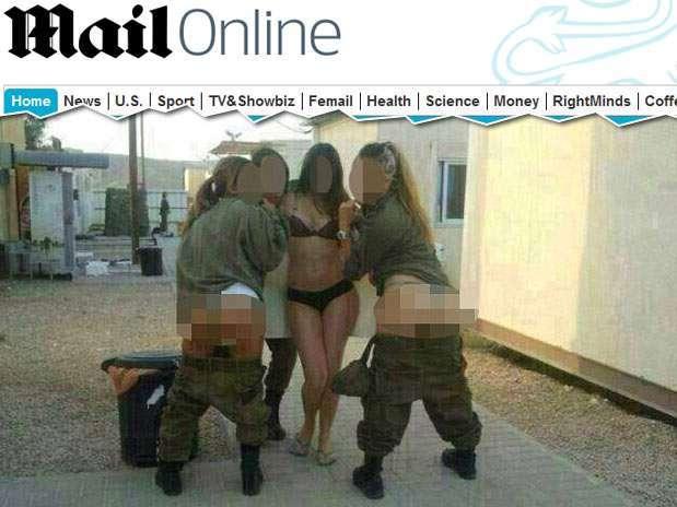 As fotos sensuais das jovens foram postados em um perfil do Facebook Foto: Daily Mail/Walla / Reprodução