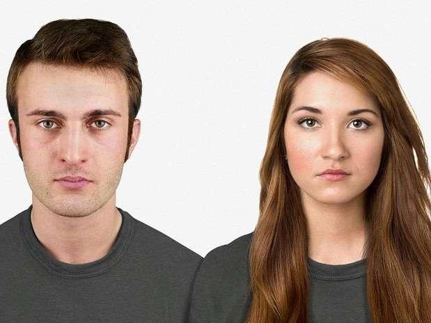 Hoje -artista visual reproduziu um homem e uma mulher no modelo atual Foto: Nickolay Lamm/MyVoucherCodes.co.uk / Divulgação
