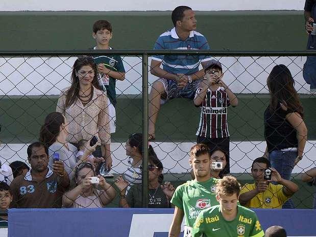 treinamento no Estádio Serrinha, localizado na sede social do ...