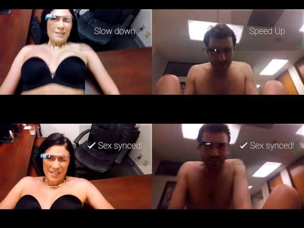 Trailer mostra atores James Deen e Andy San Dimas em situação meio sensual e meio cômica com o Glass Foto: Reprodução